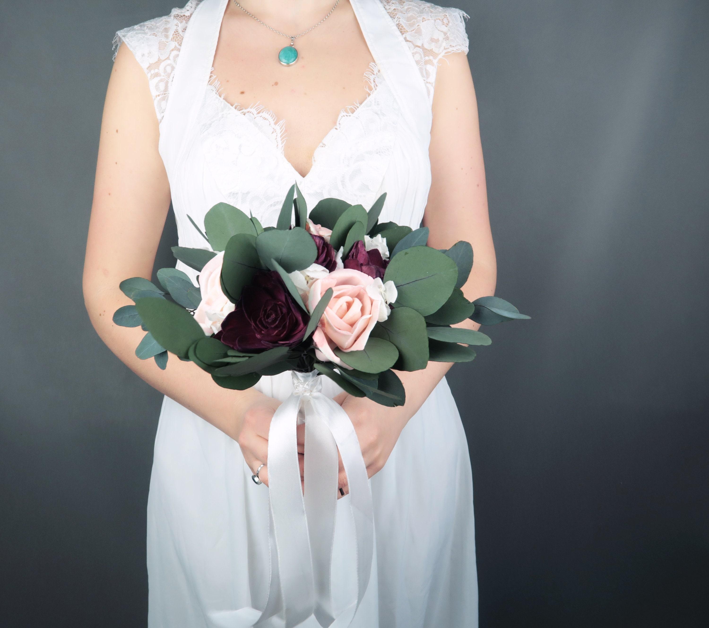 Small Bridal Bridesmaid Boho Wedding Bouquet Preserved Eucalyptus