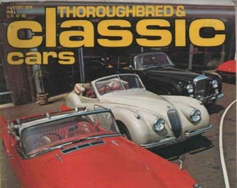 1978 THOROUGHBRED & CLASSIC CARS August Vol 5 No.11 Rochdale Olympic Miller Vintage Car Magazine