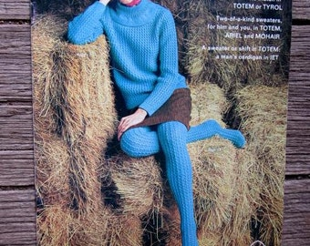 PATONS KNITTING BOOK No 708 1960s Mohair Sweaters