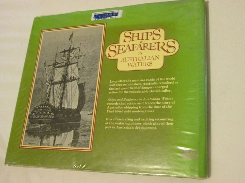 Ships & Seafarers In Australian Waters Max Colwell Large HCDJ Ex Library  History 1983 1st Ed Clippers Whaling First Fleet Steamships Wrecks