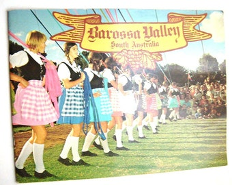 1970s BAROSSA VALLEY South Australia Tourism Winery Book Vintage Australian Book