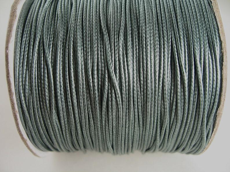 10m dark grey polyester waxed cord 0.8mm