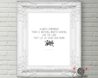 Avett Brothers lyrics-Avett Brothers song-Always remember printable- there is nothing worth sharing like the love that let us share poster