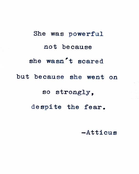 Atticus Printable Poster She Was Powerful Not Because Etsy