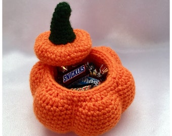 Pumpkin Pots Crochet Pattern - Pumpkin Candy Bowl - Crochet Halloween, Fall, Thanksgiving Day Decoration - PDF Pattern Digital Download ONLY