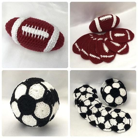 Football Coaster Sets Bundle Set PDF Crochet Patterns | Etsy