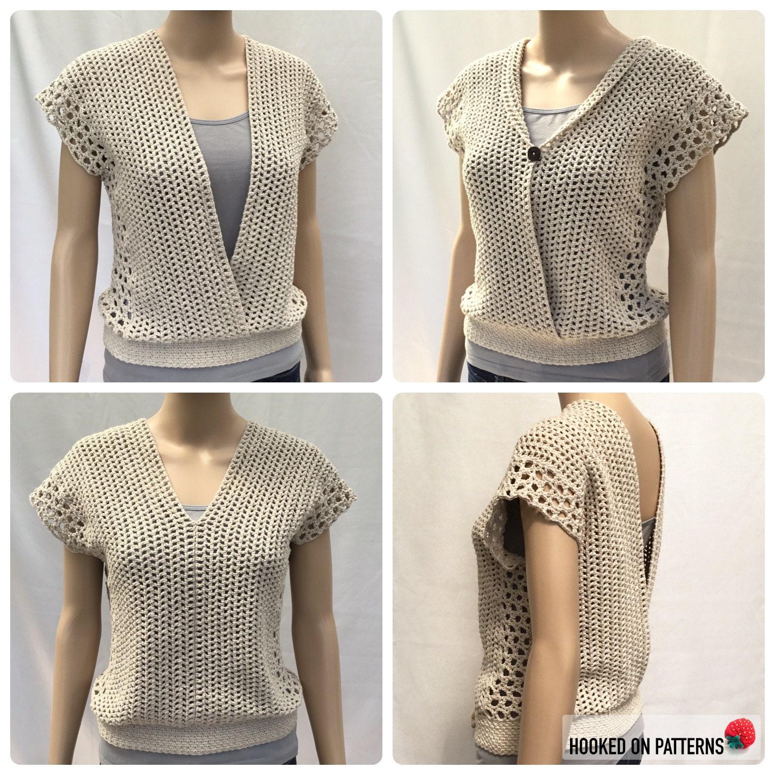 2d8016a9f5 Leora Summer Top Crochet Pattern PDF Download Sizes S M