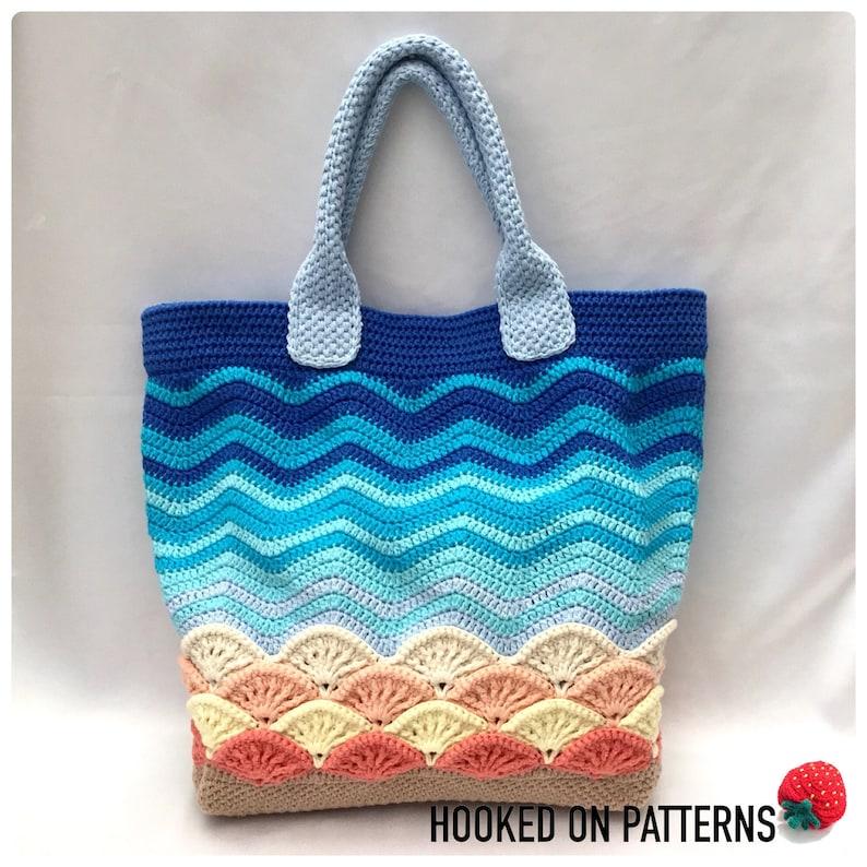 Sea Shells Beach Bag Crochet Pattern Crochet Tote Bag  PDF image 0