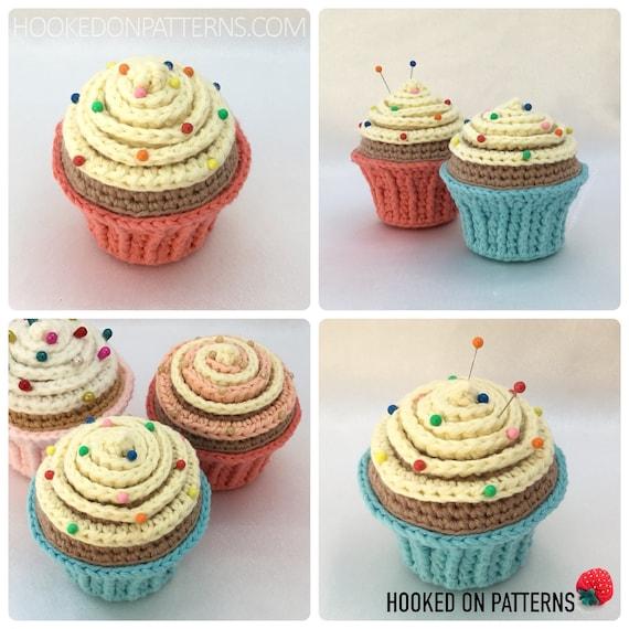 Cupcake Pin Cushion Crochet Pattern Pdf Download In English Etsy