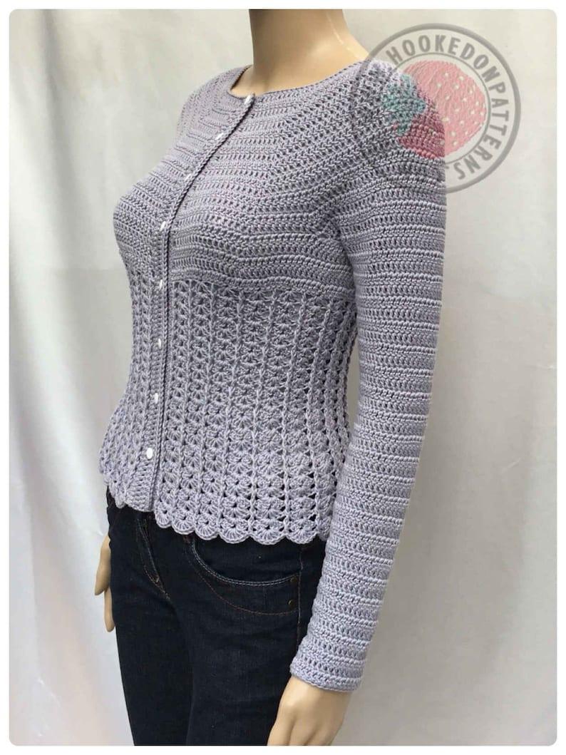 5978265920 Kamila Fitted Cardigan Size S M L XL 2XL 3XL Crochet
