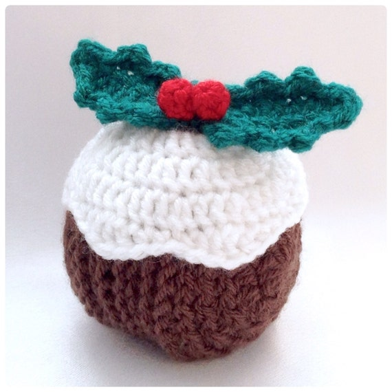 Christmas Pudding Coaster Set Crochet Pdf Pattern Etsy
