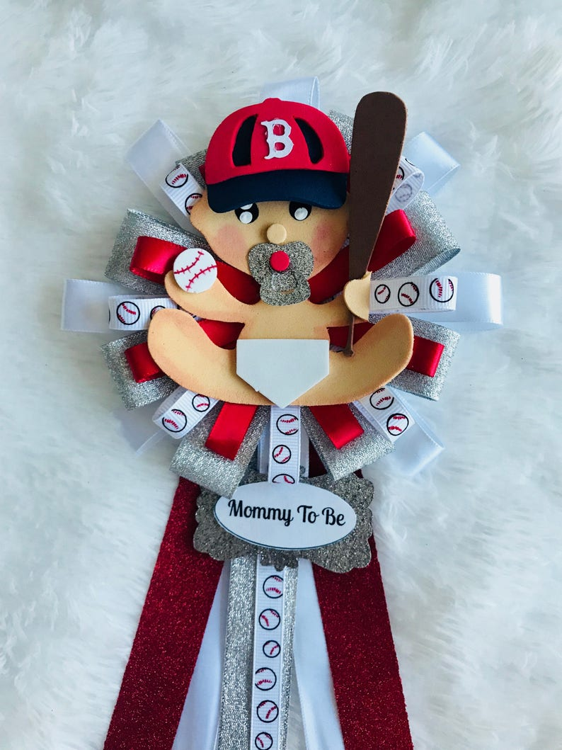 Baby Baseball Team Corsage Pin Mommy Pin Daddy Pin Sports Etsy
