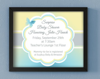 Baby Shower Invitation PDF file for INSTANT DOWNLOAD!