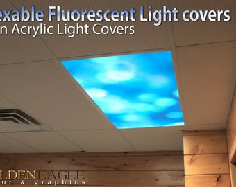 Flexible Fluorescent Light Cover Films Skylight Ceiling Office Medical  Dental Texture   Diffused Glass