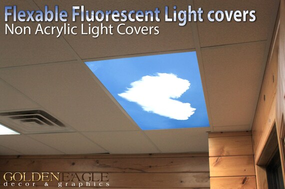 Fluorescent Light Covers >> Flexible Fluorescent Light Cover Films Skylight Ceiling Office Etsy