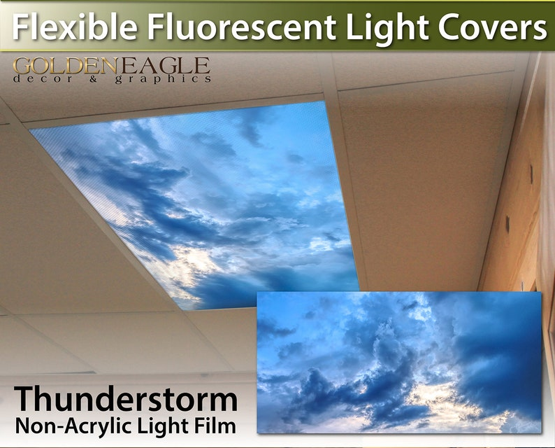 fluorescent light covers clouds