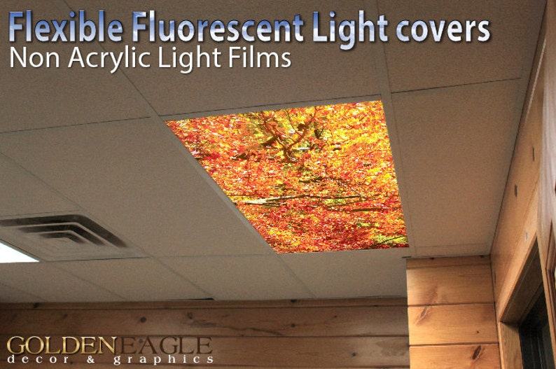 Fluorescent Light Covers >> Flexible Fluorescent Light Cover Films Skylight Ceiling School Etsy