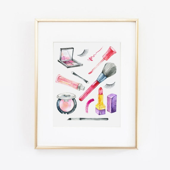 Makeup Print, Makeup Wall Art, Beauty Print, Makeup Printable, Wake Up and  Makeup, Makeup Brushes, Makeup Art, Makeup Quote, Makeup Decor