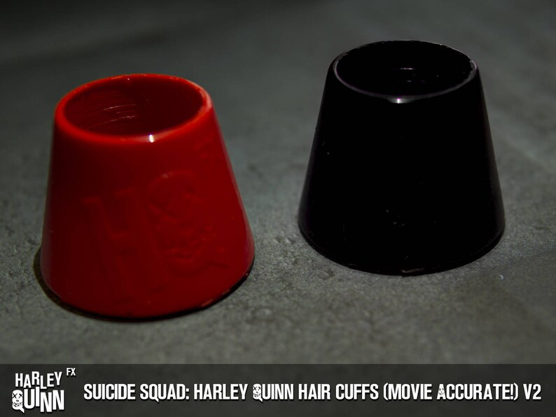 Movie Accurate! Suicide Squad Harley Quinn Hair Cuffs v2 *READ DESCRIPTION*