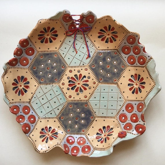 MADE TO ORDER Handmade Ceramic Patchwork Patterned Bowl