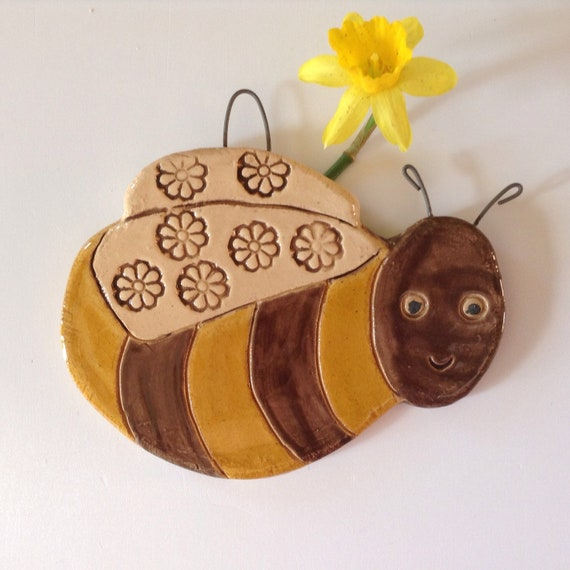 Handmade Ceramic Hanging Bumble Bee