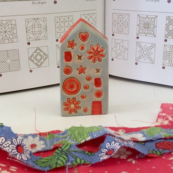 ONE little house. Patterned. Handmade, Ceramic houses, ornament, decoration, little house, housewarming.