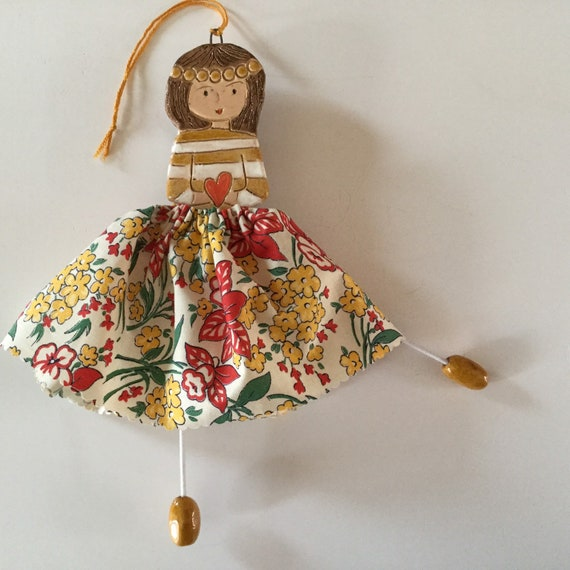 TO ORDER:  Little Dancer (Honeysuckle) Art doll, handmade, mixedmedia, ceramic and fabric, vintage, unique, colourful