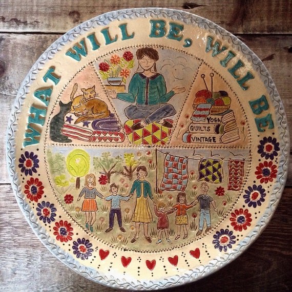 TO ORDER Handmade Personalised Ceramic Plate