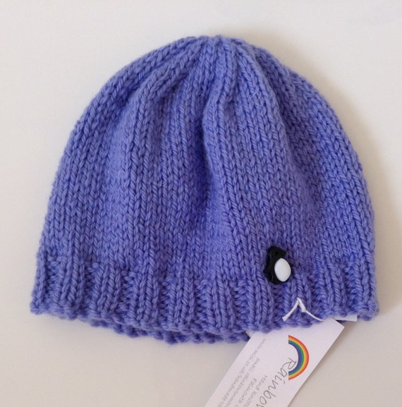 9969b797a Hand Knitted Baby Hat in Blue