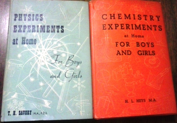 Items similar to Vintage Science Books- Chemistry Experiments At