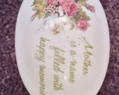 A Mother 39 s Remembrance Genuine Porcelain Trinket Box, Designer 39 s Collection.