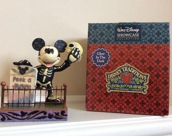 "Walt Disney Showcase Collection Mickey Mouse ""Peek-a- Boo"" figurine, Jim Shore."