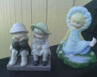 """Two Figurines,  """"We're Two Of A Kind"""" plus """"Megan and Friends""""."""