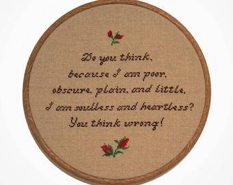 Jane Eyre Cross Stitch Pattern