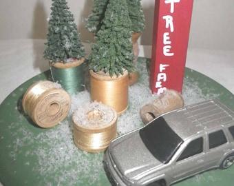 Bringing Home the Tree Display ~ Sewer's Christmas ~ Christmas Truck ~ Farmhouse Christmas ~ Country Christmas ~ Christmas Mantel~