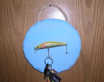 54c9a185cceec Fishing Lure Key Holder ~ Man Cave ~ Fishing Decor~ Key Holder / Rack