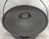 Wagner Ware 10 Cast Iron Tite-Top 12 Inch Camp Dutch Oven Vintage Cookware Cast Iron Dutch Oven