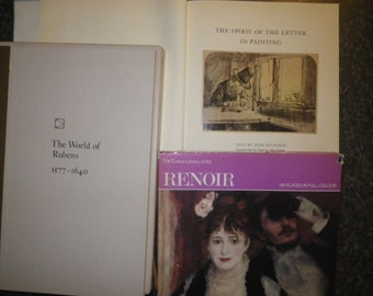 Art Books ~~Renoir/Eymarie/Rubens  perfect for Card making, Scrapbooking, Mixed Media, Collage