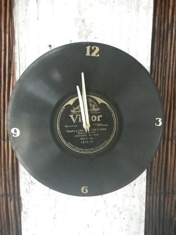 Vintage 78rpm Vinyl Record Clock One Of Kind
