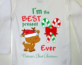 c71496068 Baby First Christmas Outfit, Christmas, Baby First Chistmas Bodysuit, Baby's  First Christmas Bodysuit, Christmas outfit, First XMas