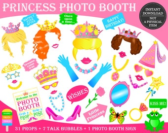 picture about Disney Princess Photo Booth Props Free Printable known as Princess image prop Etsy