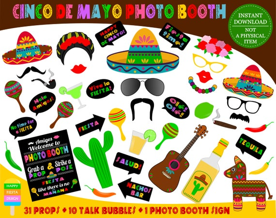 photograph about Free Printable Photo Booth Sign titled PRINTABLE Cinco De Mayo Photograph Booth PropsMexican Fiesta