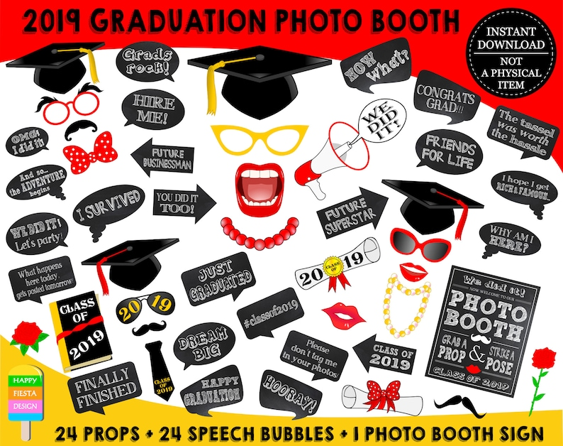 image relating to Printable Graduation Photo Booth Props named PRINTABLE Commencement Picture Booth Props 20192019 Commencement Props-Cl of 2019 Props-Commencement Celebration Props-Quick Obtain-GP19