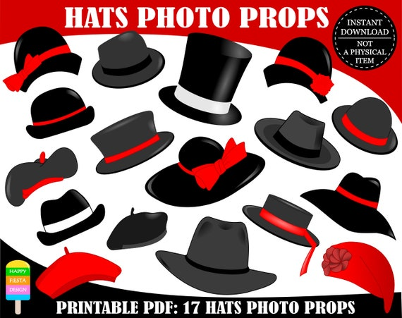 photograph relating to Printable Hats named PRINTABLE Hats Photograph Booth Props-Printable Hat Picture Props-Hats Props-Women Hats-Adult men Hats-Clic Props-Hat Social gathering Props-Instantaneous Down load