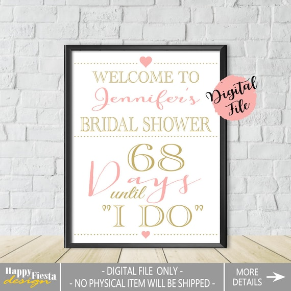printable bridal shower welcome sign personalized welcome to bridal