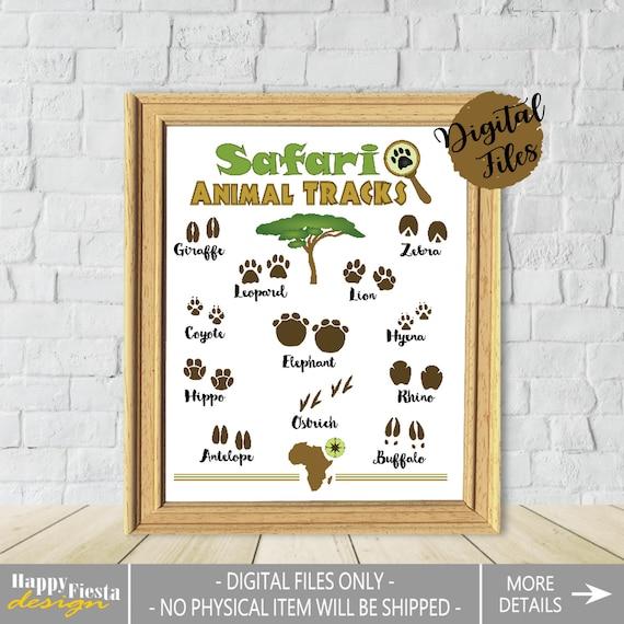 photograph regarding Printable Animal Footprints referred to as Printable Animal Songs Poster-Safari Pets Print