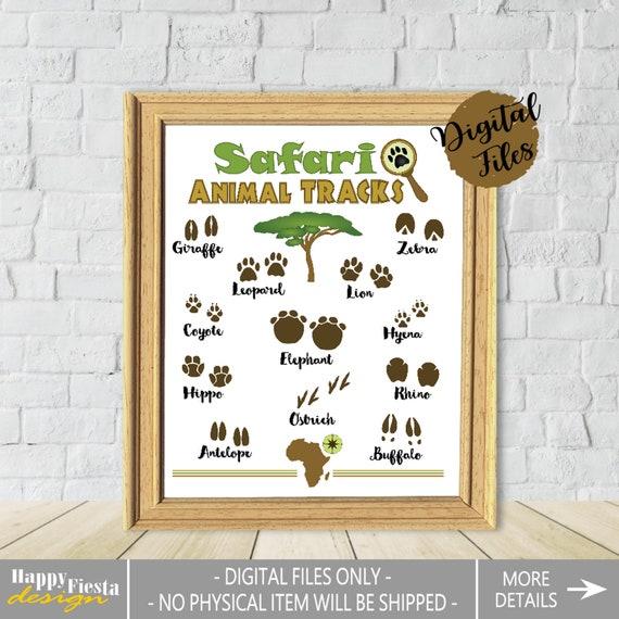 picture regarding Printable Animal Tracks referred to as Printable Animal Tunes Poster-Safari Pets Print