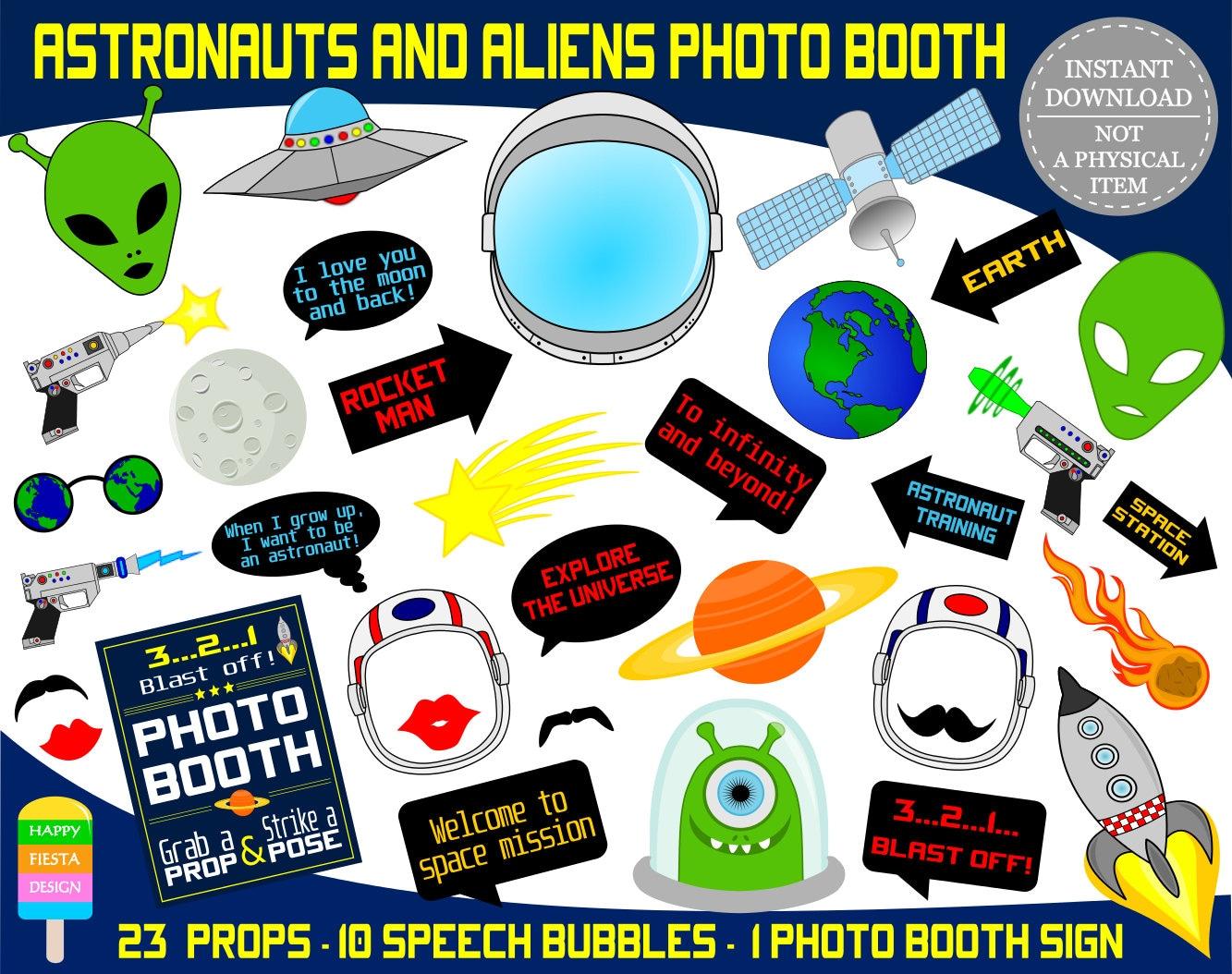 PRINTABLE Astronauts & Aliens Photo Booth PropsAliens