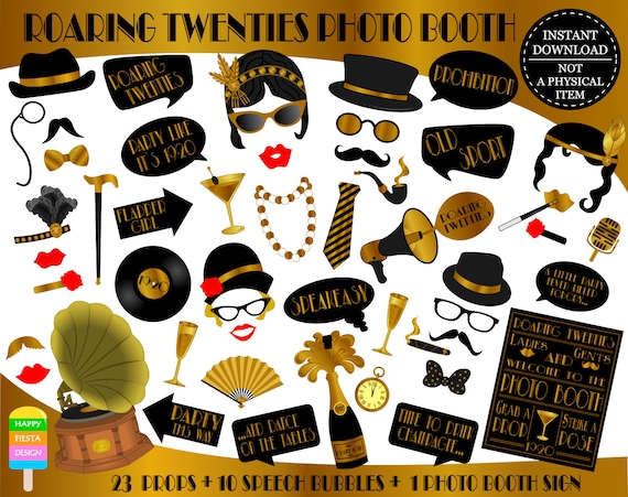 Printable Roaring Twenties Photo Booth Props1920 Props Roaring