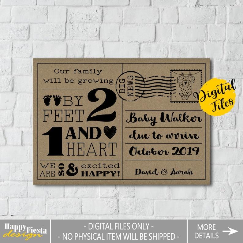PRINTABLE Baby Announcement Card\u2013Printable Pregnancy Announcement Card\u2013Airplane Baby Reveal-Plane Pregnancy Reveal Card-Adventure Baby-PA38